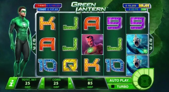 green lantern slot online playtech: how to play