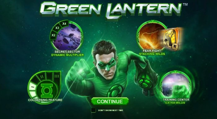 green lantern slot online playtech